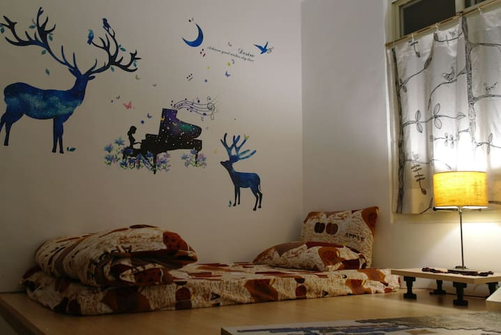 Allen的家,寬敞,舒適,單人房,距離桃園火車站僅5分鐘,鄰近桃園巨蛋,虎頭山,花市。 - Guishan District - Huoneisto
