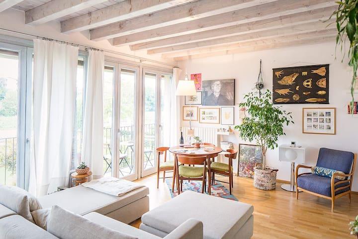 Cozy & sunny apartment in Franciacorta Wine Region - Bornato - Daire