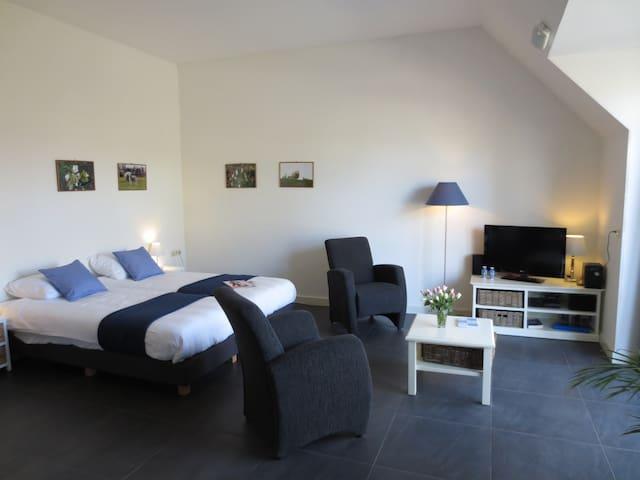 Sfeervol modern appartement in Friese Boerderij - Mantgum - Leilighet
