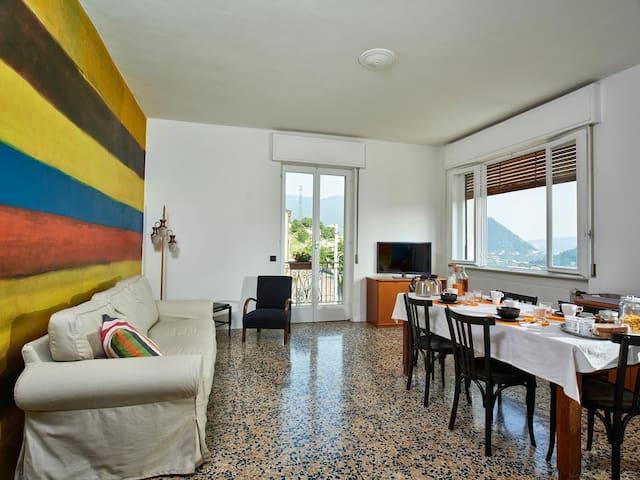 Comovà: Grande appartamento in  villa con giardino - Maslianico