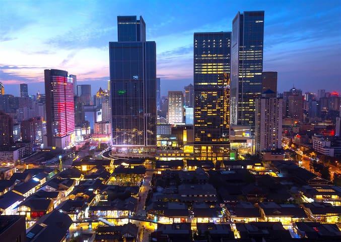 春熙路太古里公寓整租,温馨双人空间,3分钟到地铁 - Chengdu - Lejlighed