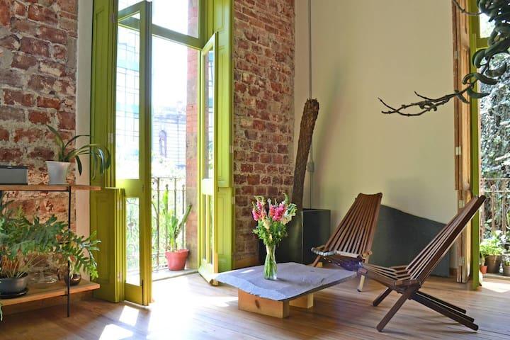 Beautiful and charming loft in restored building - Ciudad de México - Loteng Studio