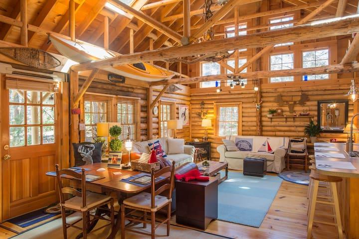 Cedar Log Cabin in Boothbay Harbor - Boothbay Harbor - Kulübe