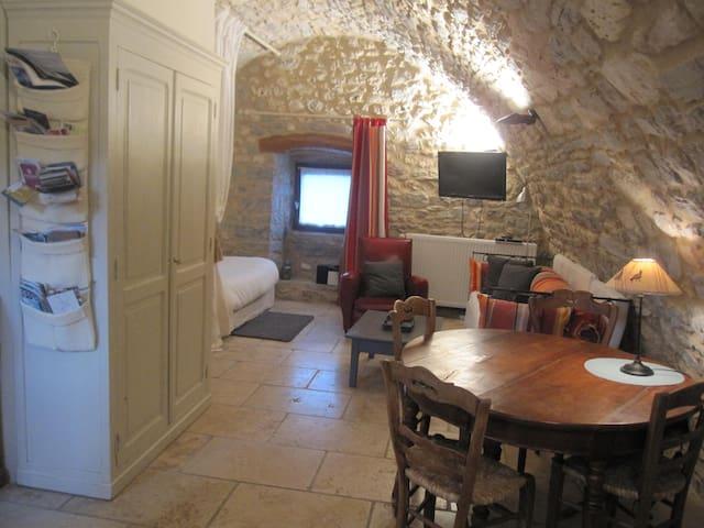Gîte de charme 3* en pierres et lauzes - La Tieule - Huis