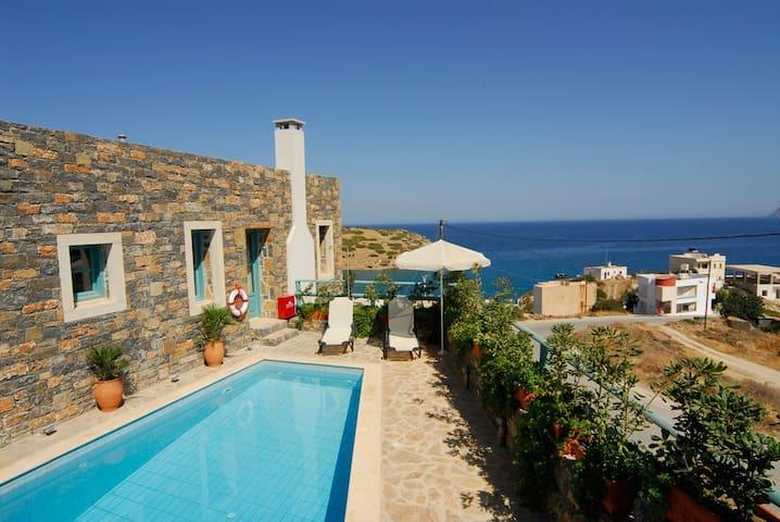 Sea vew villa Mousses, traditional Cretan colour - Mochlos - Villa