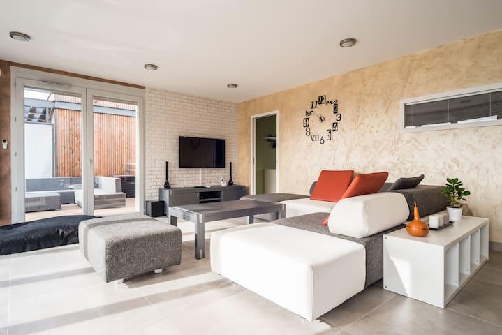 Appartement neuf en attique - Prévessin-Moëns - Apartament