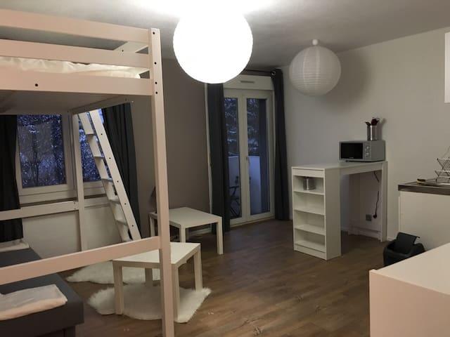 Studio centre ville à 5mn du tram - 米盧斯(Mulhouse)