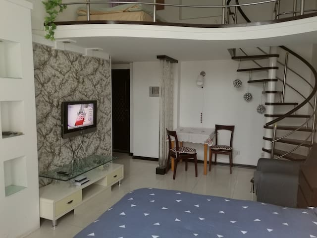 星海广场·壹品星海·听海茗居 - Dalian - Appartement
