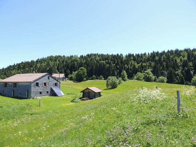 Authentic lodge with Jacuzzi in the Jura Mountains - La Pesse - Hus