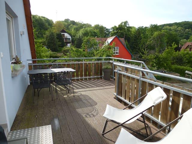 Chambre privée au pied de Ste Odile - Ottrott - Vindsvåning