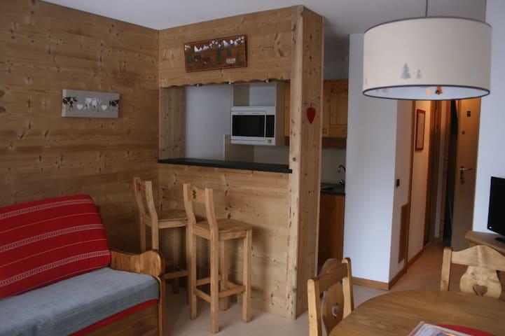 Appart 4p plein sud ski aux pieds - Les Avanchers-Valmorel - Appartement