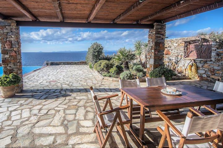 Blue Waters - Holiday retreat in Kea - Koundouros - Huis