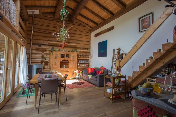 Romantisches Bijou in umgebautem Stall - Klosters Dorf - 獨棟