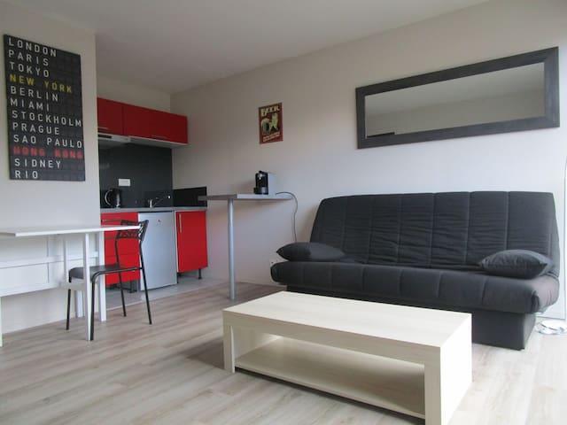 Joli studio rénové en 2016 en hyper centre - Saint-Brieuc - Apartemen