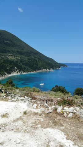 Breathtaking view of Afales bay - platrethias kampos - Casa
