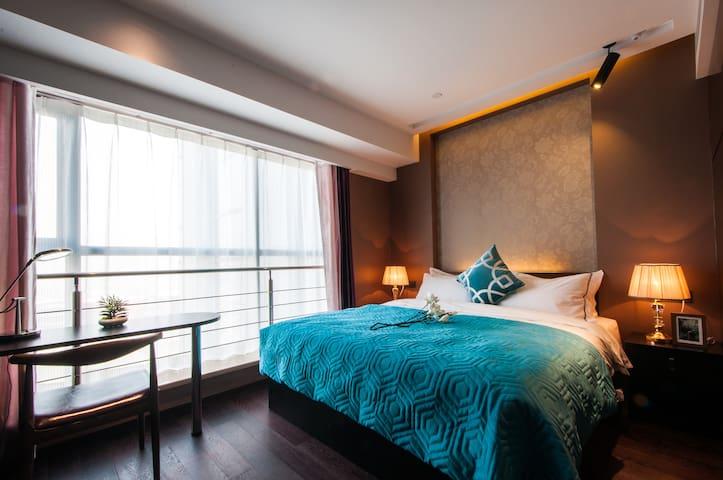 鸟瞰长风商务区北欧空净无霾房 - Taiyuan - Apartamento