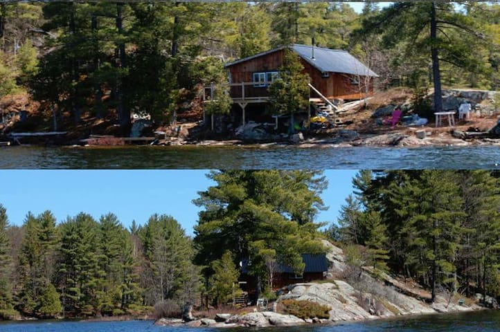 Log Cabin on Crotch Lake, North Frontenac - Claredon  - Kabin
