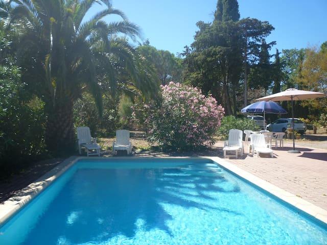 Gite au calme entre mer et montagne – avec piscine - Saint-Féliu-d'Avall - Appartement