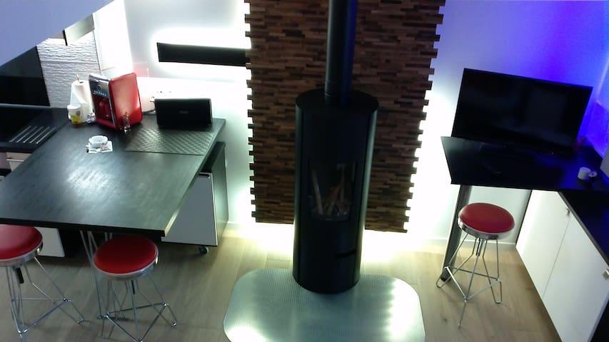 studio athypique avec poêle à bois - Ancenis - Daire