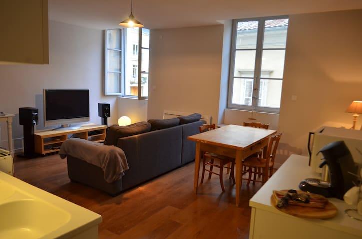 Joli T2 en plein centre-ville pour 4 personnes - Bourg-en-Bresse - Apartamento