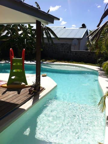 Kaz el patio - patio, piscine, terrasse, barbecue - Le Centre - Casa