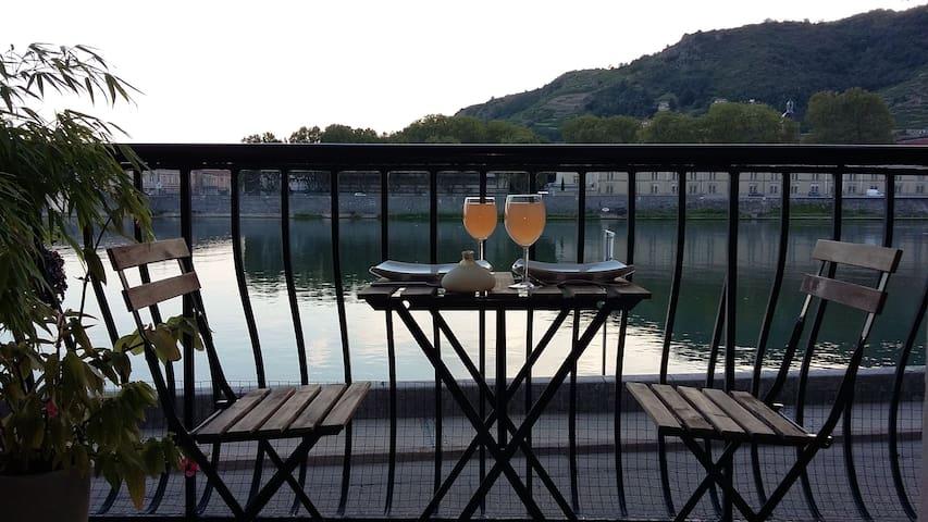Au rythme du Rhône et de ses péniches - Tain-l'Hermitage - Appartement