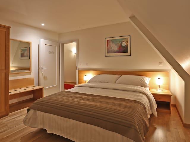 Chambre d'hôtel simple ou double au centre ville - Bulle - Andre