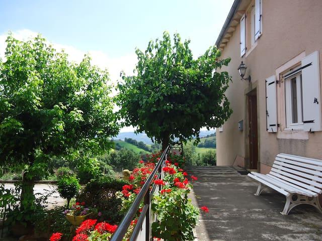 Gd gîte calme 12 pers.  Aveyron. Semaine moins 60% - Broquiès - Haus
