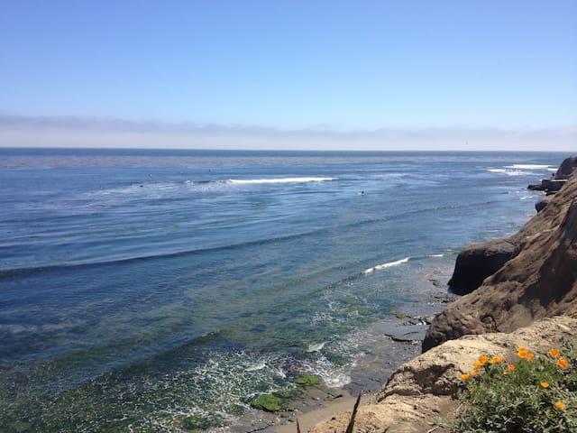 Room with a view on the Pleasure Point surf break - Santa Cruz - Casa