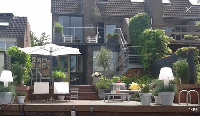 Lovely Riverside Studio ( incl parking and bikes) - Groningen - Daire