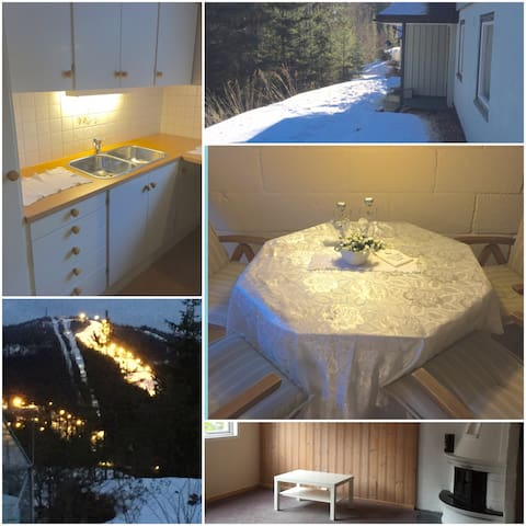 Big, cozy and light APT with garden - Nittedal - Huis