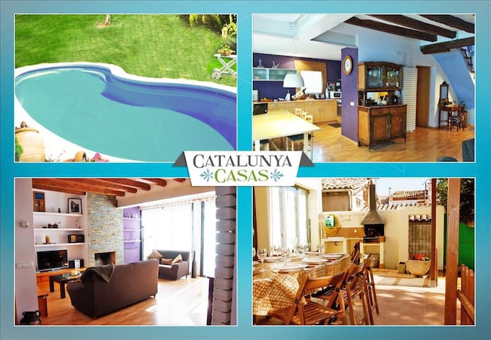 Pleasant 4-bedroom getaway in Berga with a private pool and spacious yard - Barcelona Region - 別墅