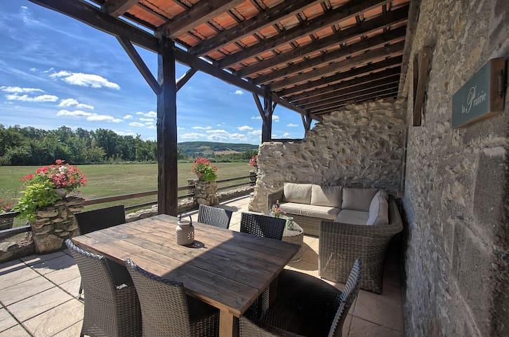 La Prairie 2 bedroom cottage - Bourlens - บ้าน