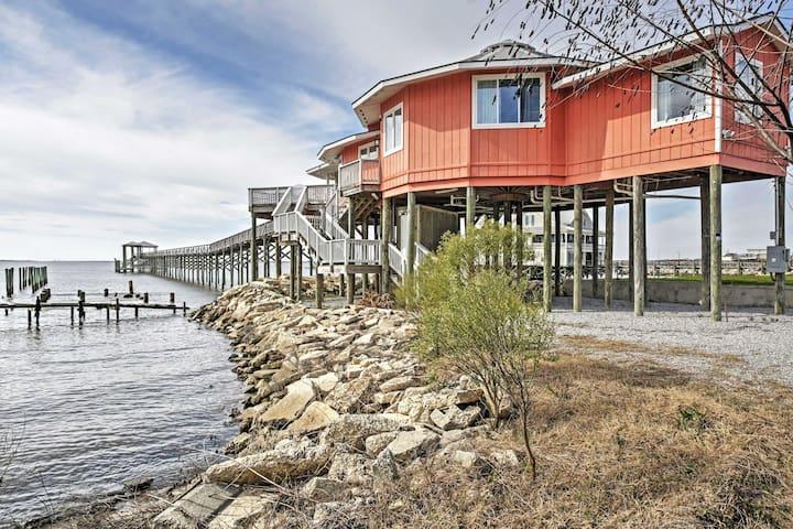 'Wild Wind' 3BR Slidell House w/450-Foot Pier - Slidell