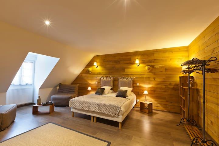 Chambre spacieuse dans Maison de Caractère - Saint-Lothain - Huis