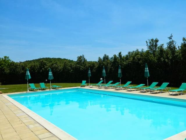 Lovely stone-built apartment with lawn and pool - Colle di Val d'Elsa - Departamento
