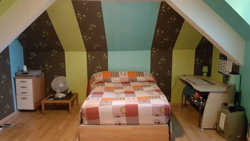 Chambre 35m² en campagne - Montsûrs - Chambre d'hôtes