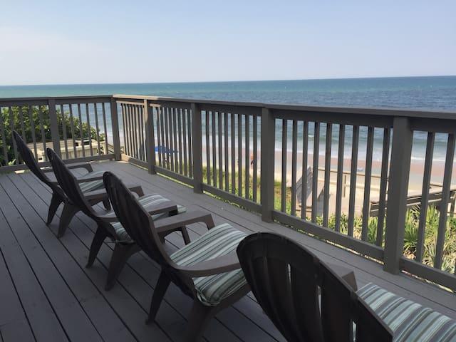 A Florida Ocean Front House Directly On the Ocean! - Flagler Beach