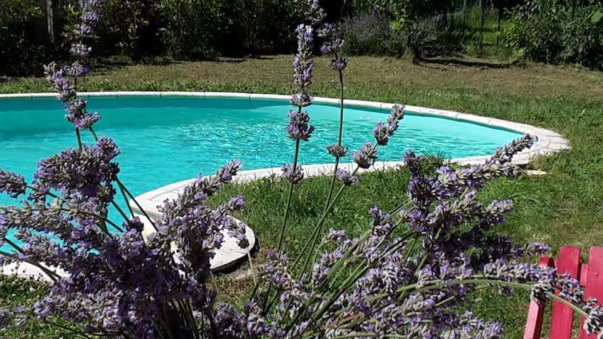Maison avec piscine  - House with swimming pool - Sainte-Terre - Hus