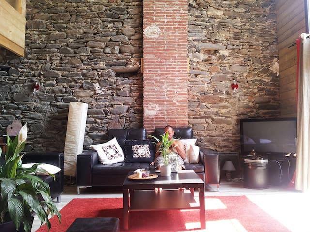 Loft en pierre catalane - Rigarda