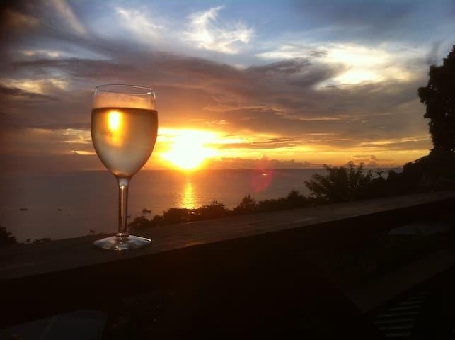 Carpe Diem Villa Castara Tobago Studio1-sea views! - Castara - Appartement