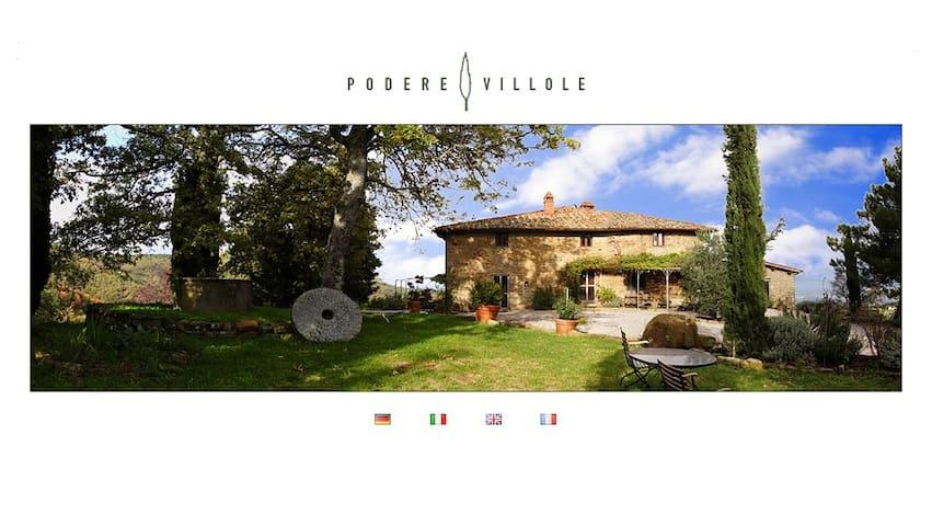 Podere Villole Toskana Chianti Apartment Pisa - Moncioni - Wohnung