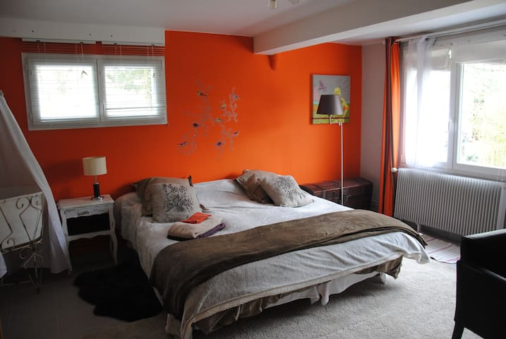 studio 30m2cosy, kitchenette,10km de lyon/sem/mois - Dardilly - Lägenhet
