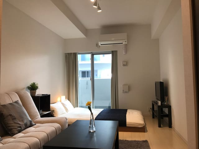 New Apt! 2min St★Nearby Shinsaibashi/Namba - Chuo Ward, Osaka - Apartament