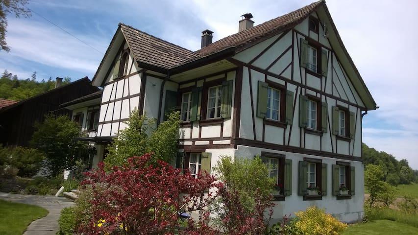 Doppel- u. Einzelzimmer - Wohnen im alten Landhaus - Elgg - Huis