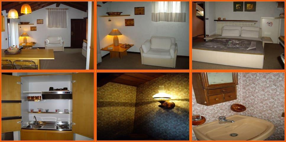 Accogliente ed elegante mansarda - Gandino - Lägenhet