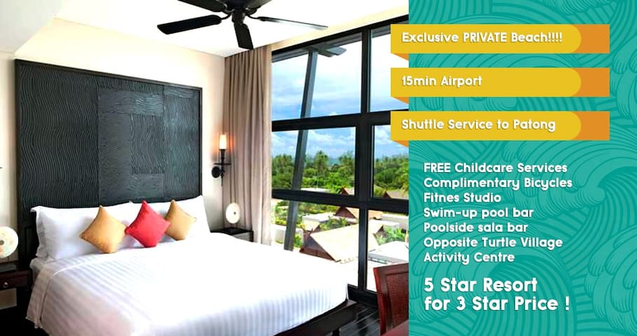 EXCLUSIVE PRIVATE BEACH!!/Luxurious 2 BR Apt - Mai Khao - Flat