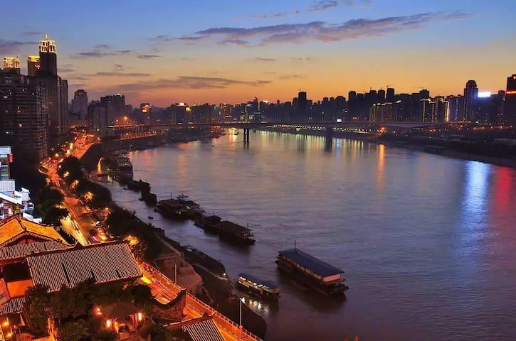 市中心CBD 2分钟到地铁 渝中区时代天街步行街精装两室一厅带地暖 - Chongqing - Huoneisto