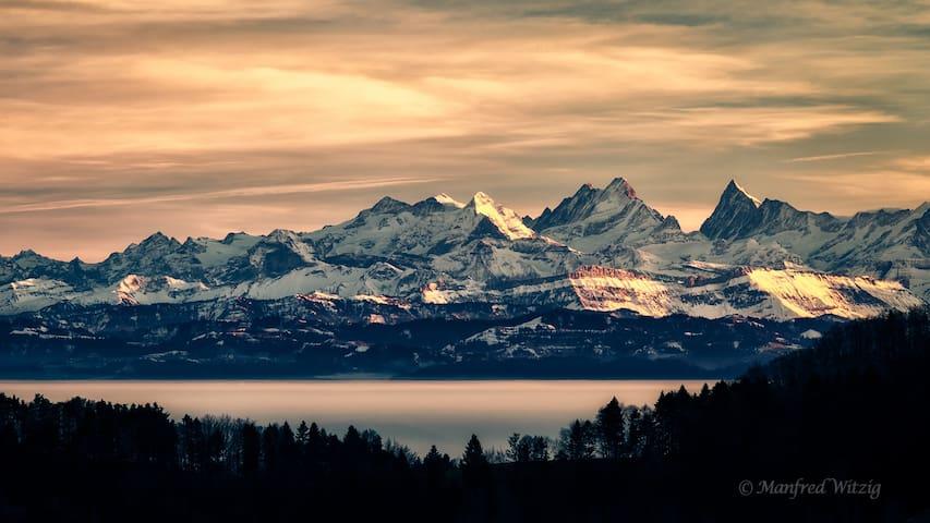 DZ mit Traumhafter Aussicht auf die Alpen - Ramiswil - Huis