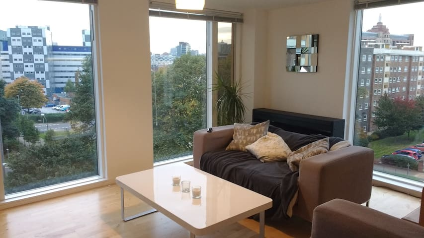 Bright and Modern Double Room with Friendly Host - Leeds - Apartmen